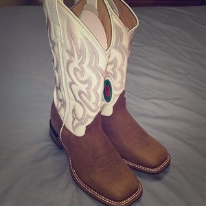 Laredo Mesquite Square Toe Cowboy Boots